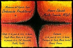 Ordenación Sacerdotal, Homero Merlín, Misionero del Espíritu Santo.